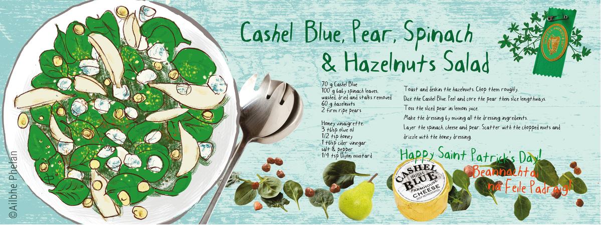 Tdac cashel blue  pear spinach   hazelnuts