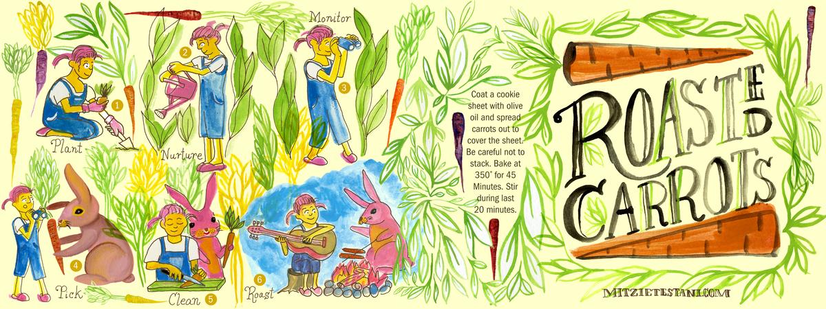 Mitzietestani roastedcarrots recipe