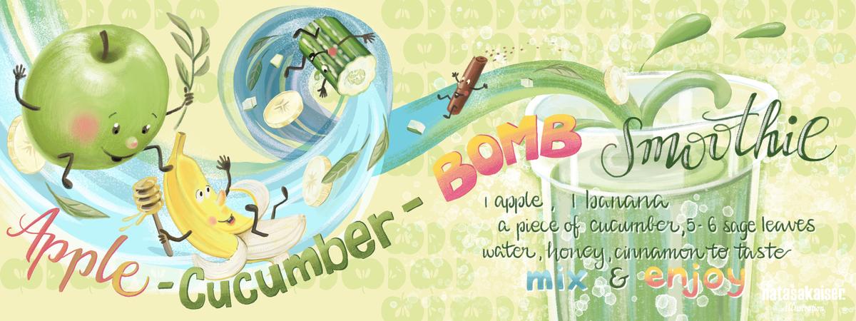 Applecucumberbombsmoothie