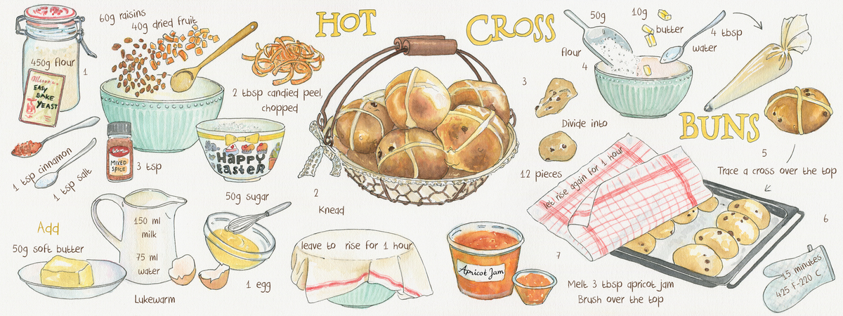 Hot cross buns  suzanne de nies