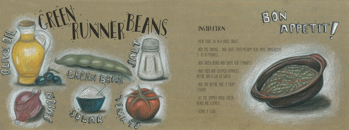 Green runner beans