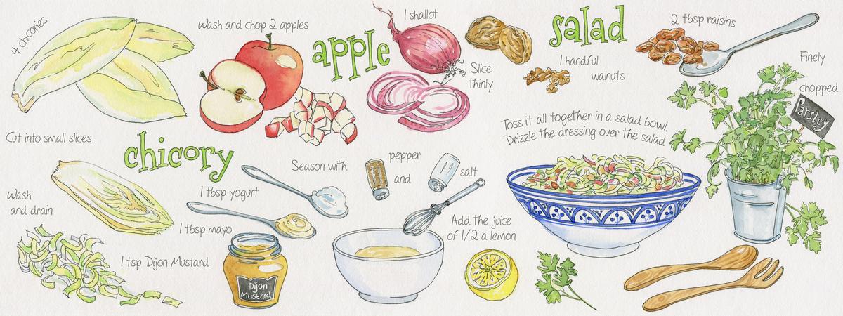 Chicory apple salad suzanne de nies