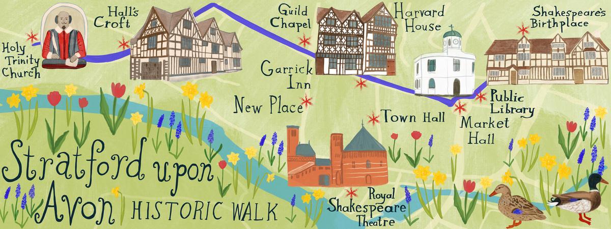 Historic Walking Route through StratfordUponAvon UK by Shoshannah