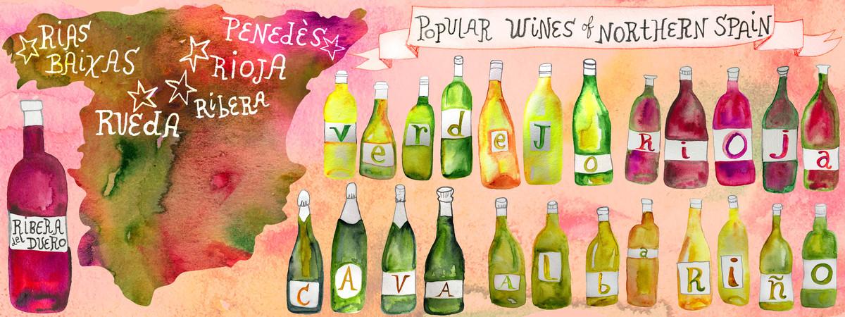 N spain wine map