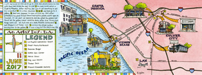 An artsy day in la illustrated map