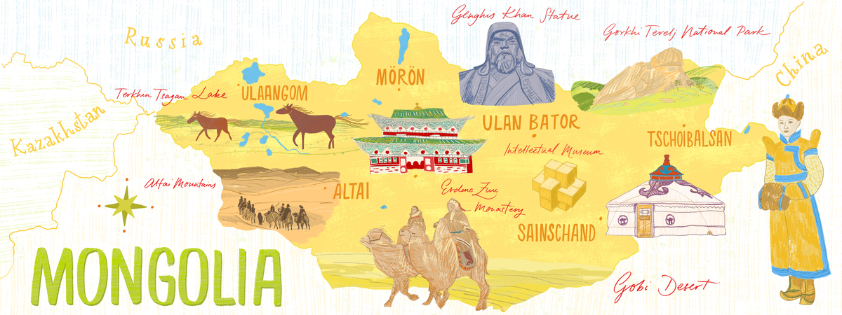 Mongolia map 2