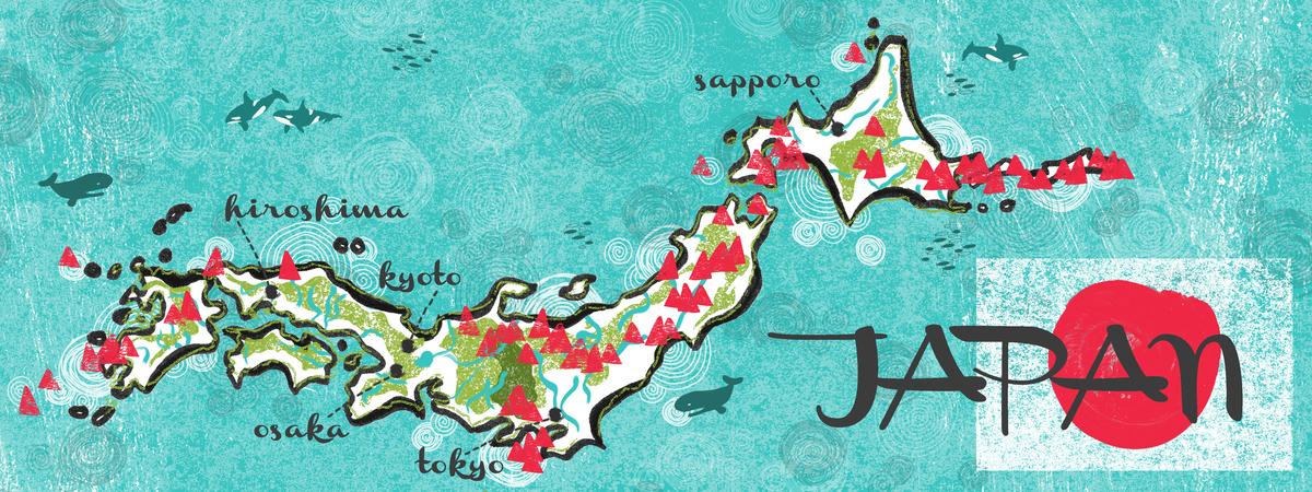 Japan geology map