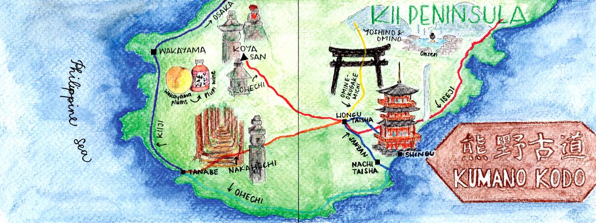 Kumano kodo map