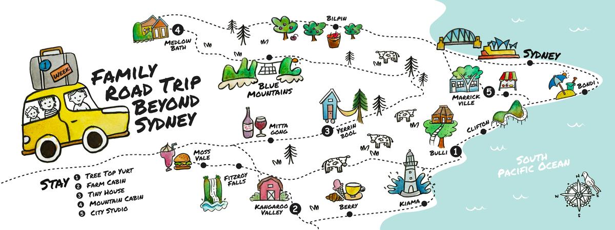Nsw sydney road trip map 6