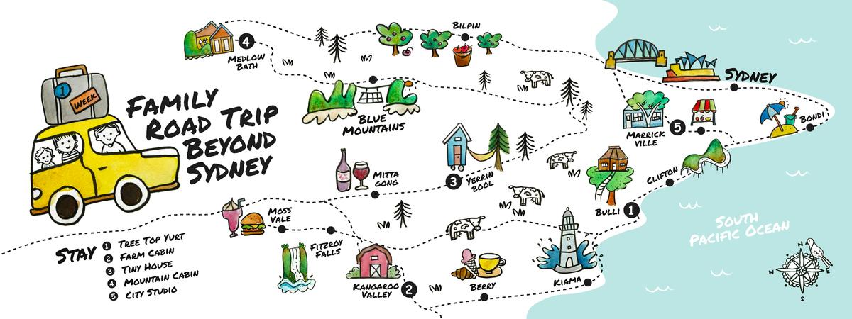 Nsw sydney road trip map final