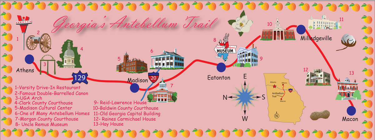 The antibellum trail map