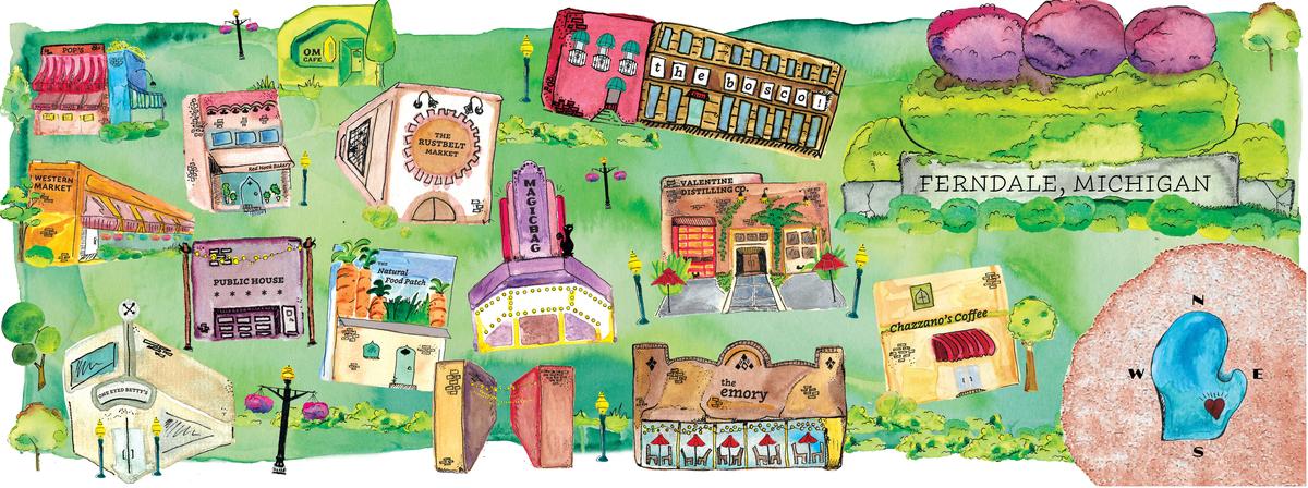 Ferndale Michigan Map.Fabulous Favorites From Ferndale Michigan By Dorothy Gacioch They