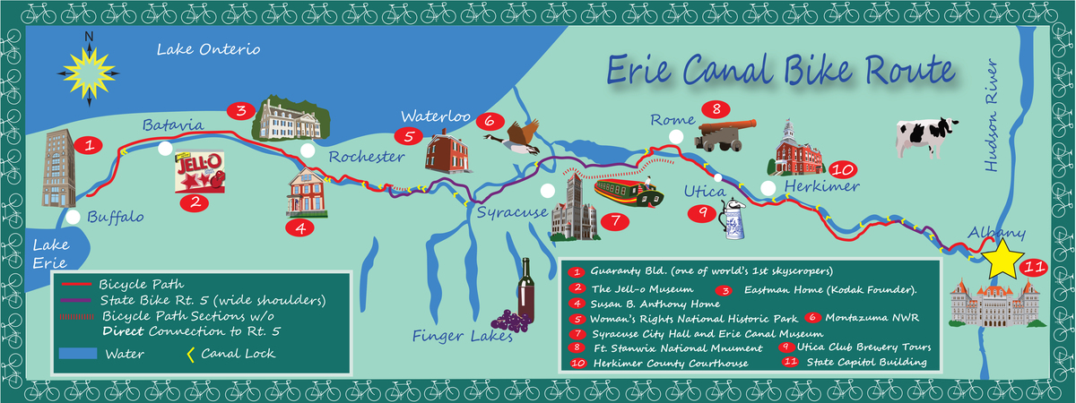 Revised canal bike route