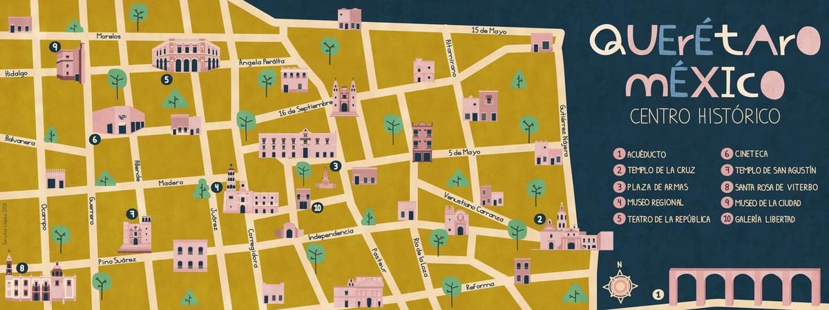 Map queretaro tanyhalopez