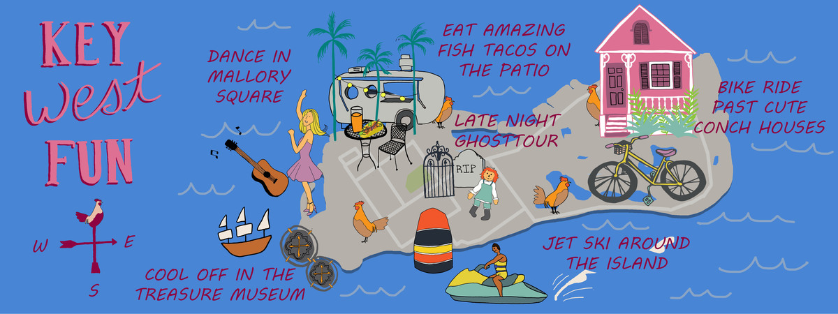 Key west fun map
