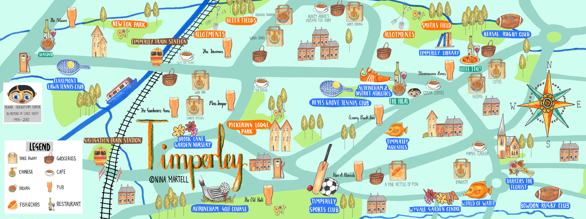Map of  timperley by nina martell