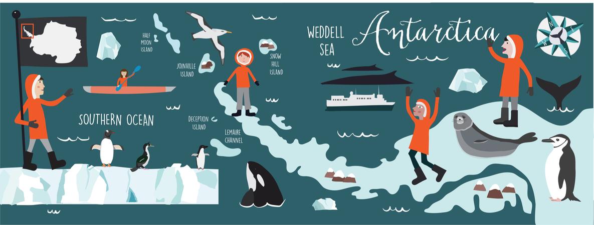 Antarctica map rgb