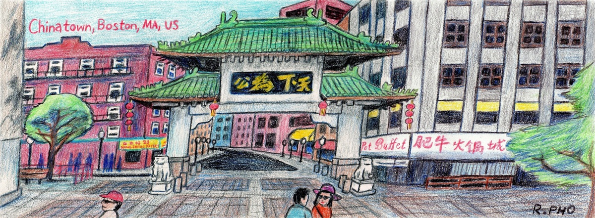 Chinatown Boston Massachusetts By Robert Pho They Draw Travel