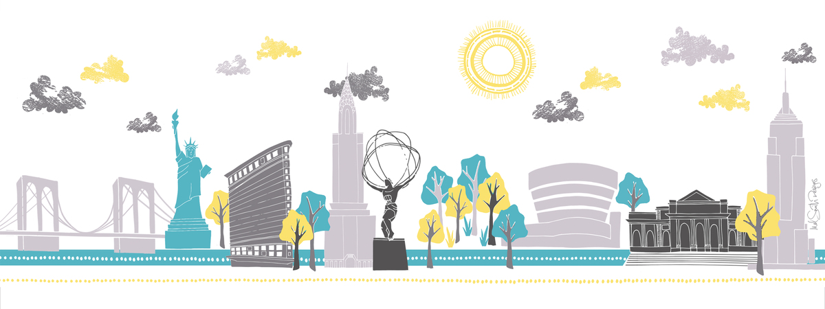 New york skyline by mel smith designs