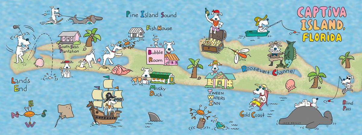 Captiva Island Florida by Jack Reilly They Draw Travel