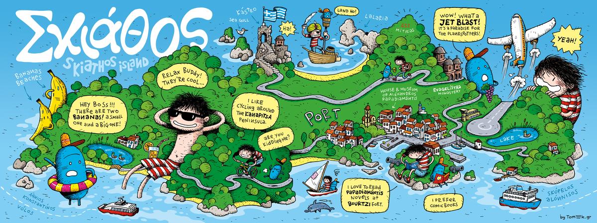 Fooling Around the Skiathos Island by Tomek Giovanis They Draw