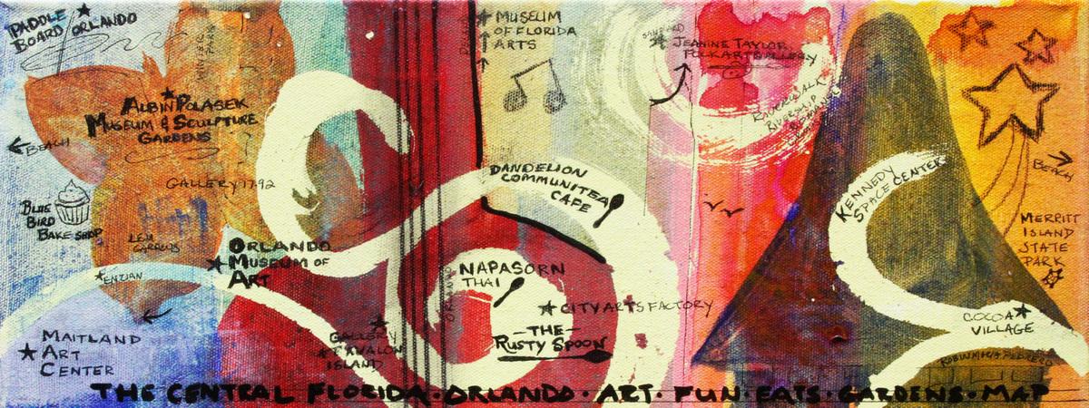 Central florida orlando arts map pedrero