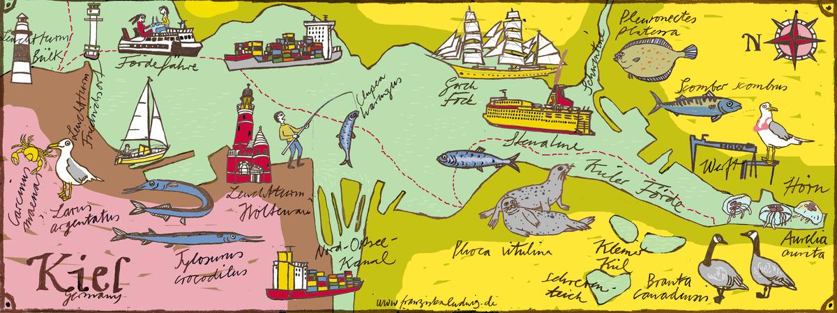 Kiel Germany by Franziska Ludwig They Draw Travel