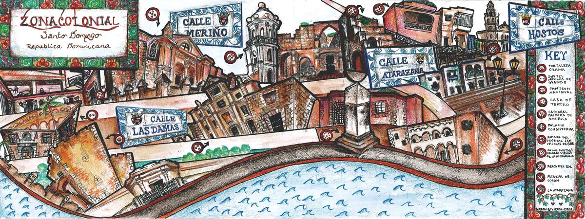 Zona Colonial Santo Domingo by Natalie Ivicek They Draw Travel