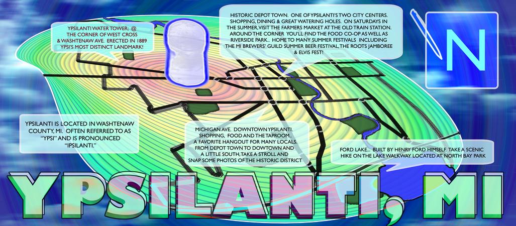 Ypsilanti mi map