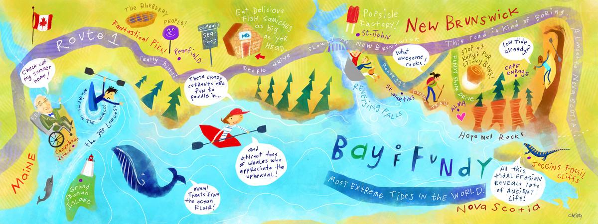 Bay Of Fundy New Brunswick Canada by Jana Christy They Draw Travel