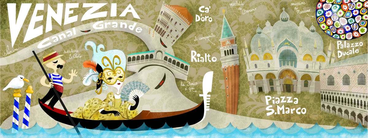 Draw and travel venice