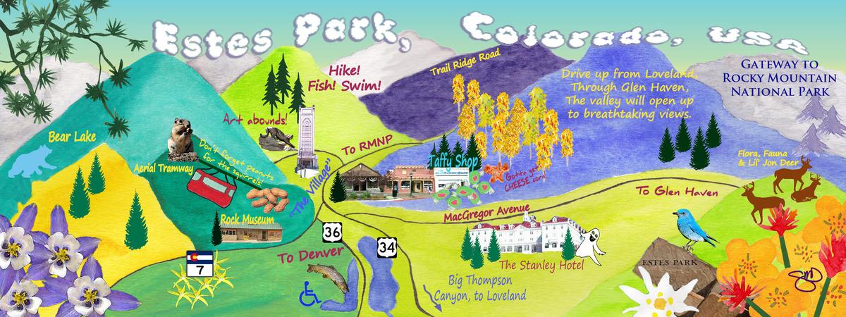 estes park colorado by sheila delgado they draw travel