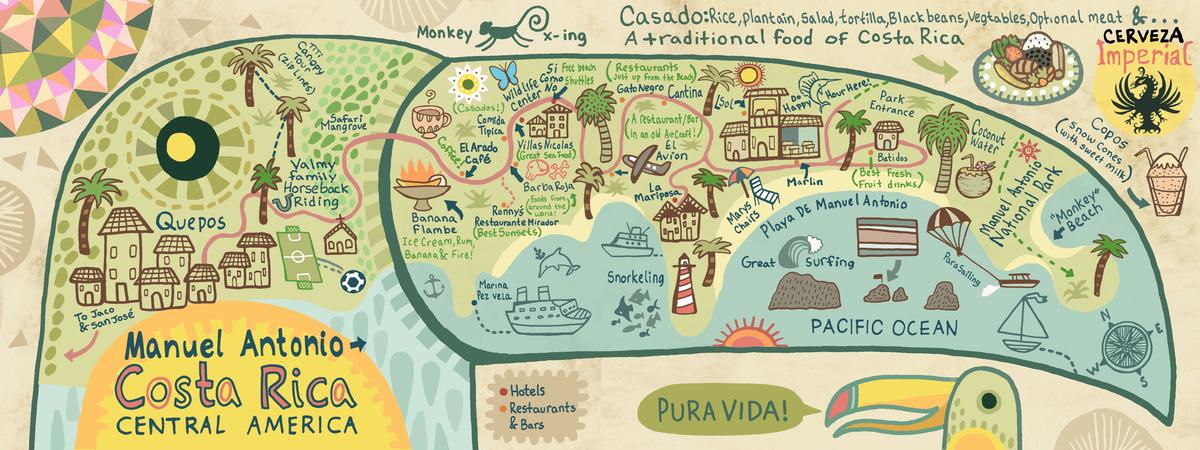 Manuel Antonio Costa Rica by Kaitlyn McCane They Draw Travel