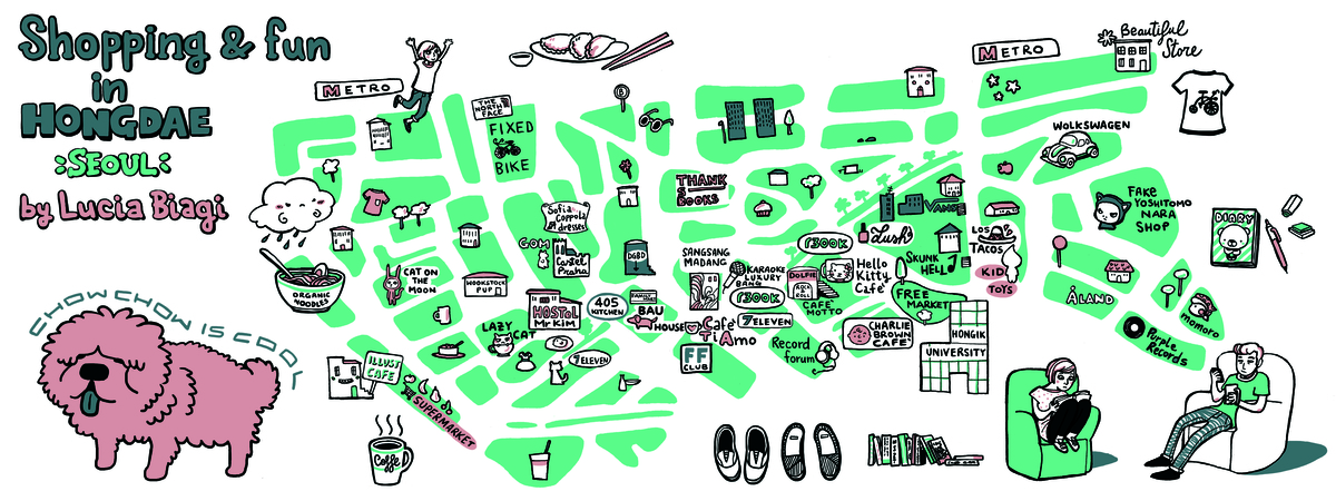Hongdae map lucia