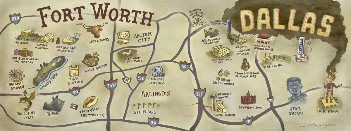 DallasFort Worth Texas by Kenton Visser They Draw Travel