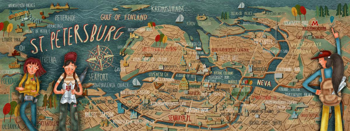 St Petersburg Russia by Oi Oilikki They Draw Travel