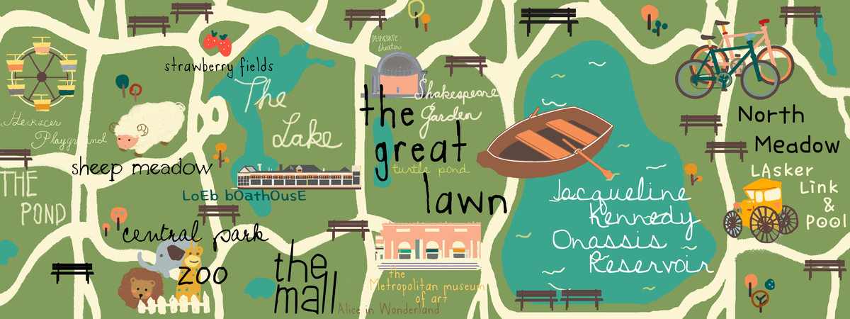 Central Park In New York New York By Riley Kim They Draw Travel