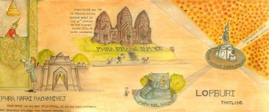 Lopburi Thailand Map.Lopburi Thailand By ภ ชา ใบโพธ They Draw Travel