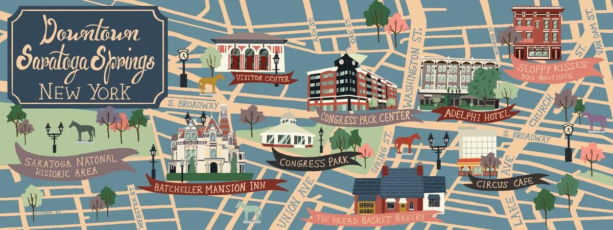 Saratoga New York Map.Saratoga Springs New York By Niki Sauter They Draw Travel