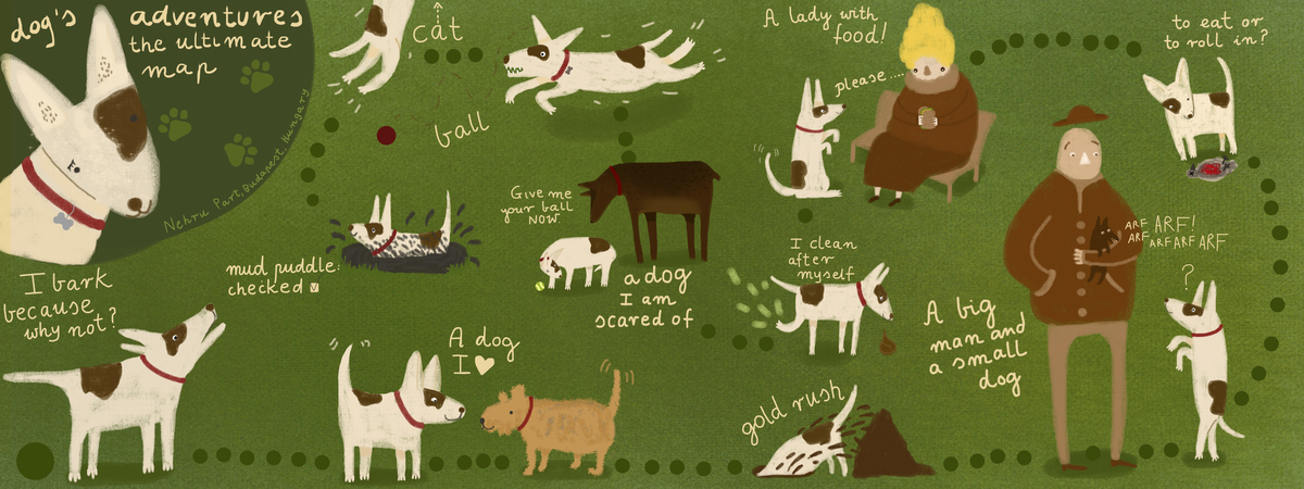 Dog map nehru park budapest .jpg