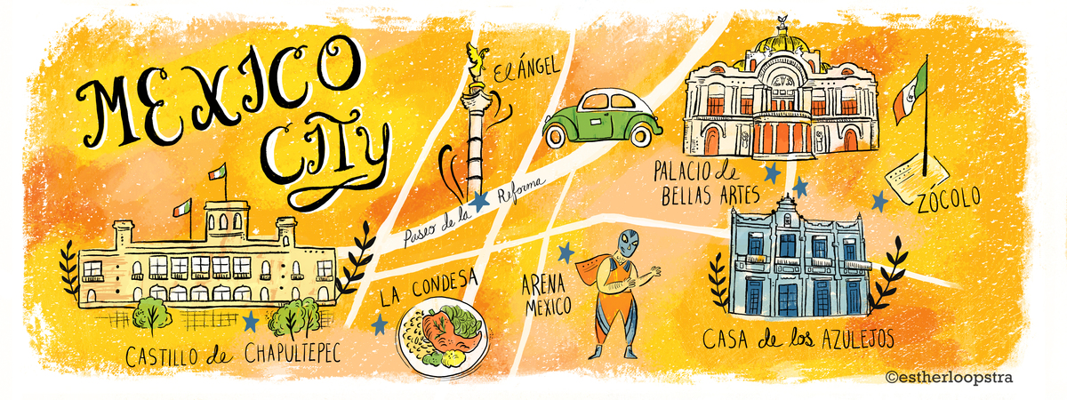 Mexico City Map by Esther Loopstra They Draw Travel