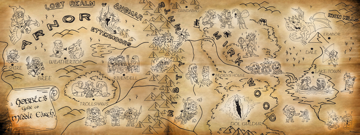 Chris scott hobbit map revised