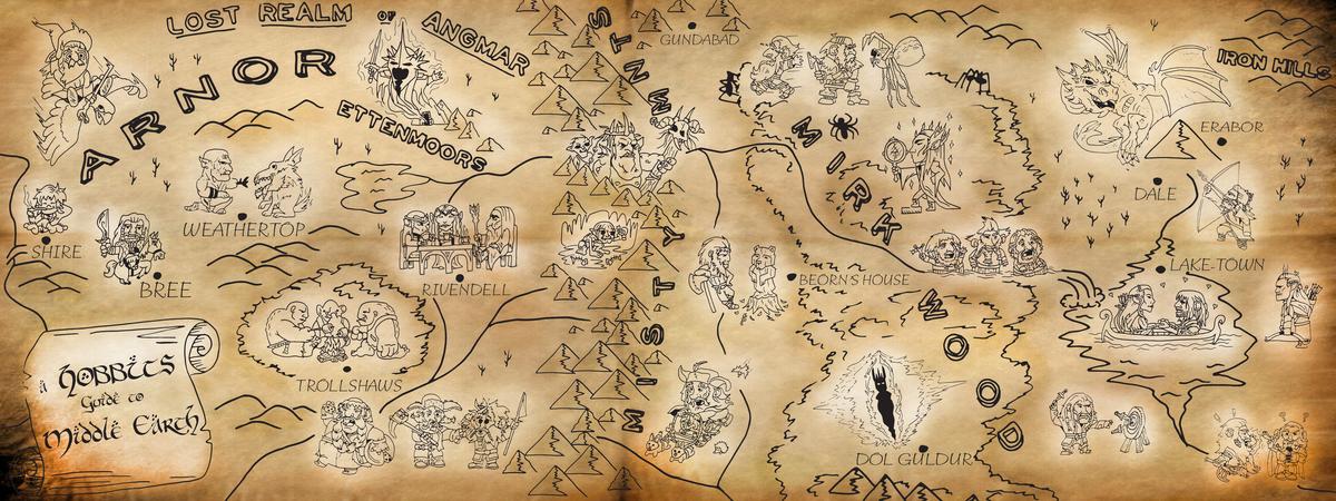 Chris scott hobbit map revised