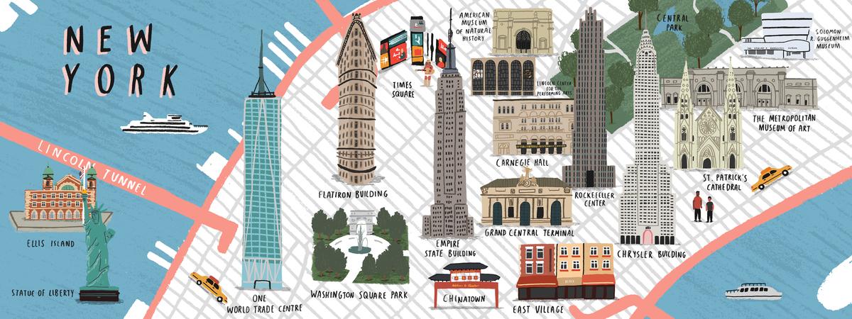 New york map alex foster tdat