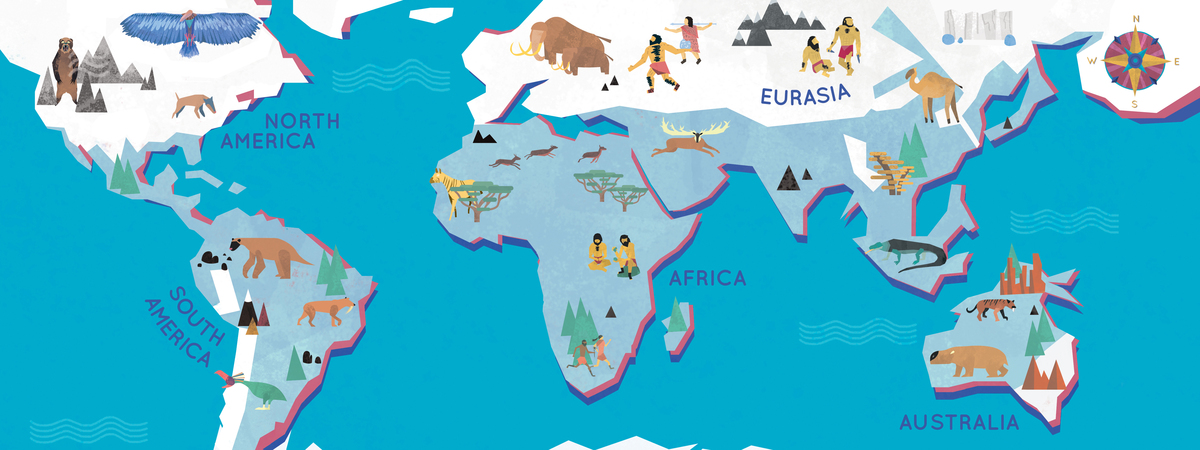 Ice Age Map Ice Age Map of the World by Jack Tite   They Draw & Travel