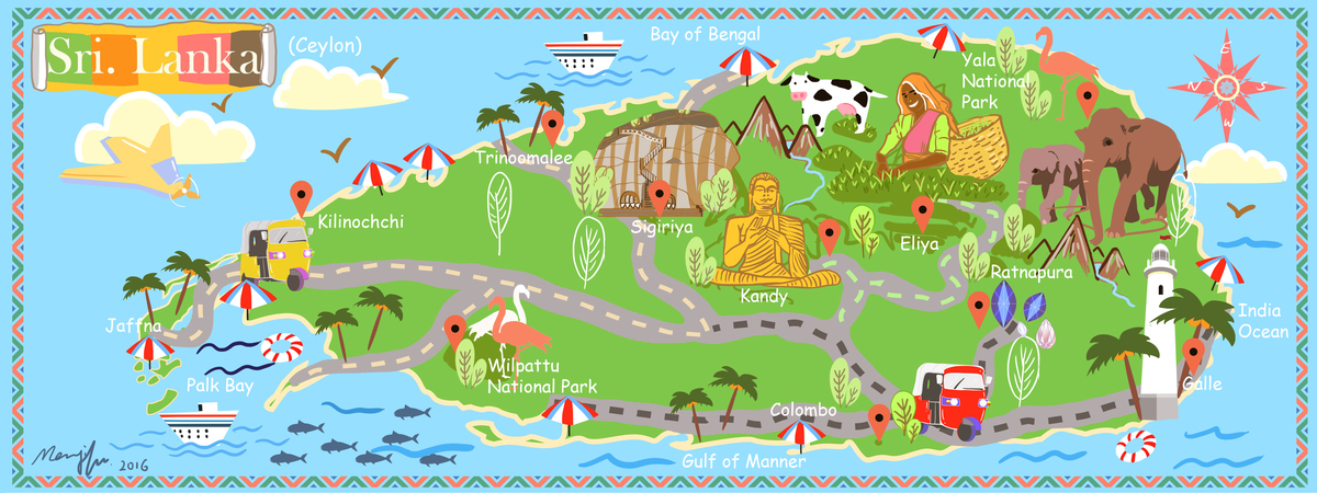 Travel Map of Sri Lanka by Mengxi Fu They Draw Travel