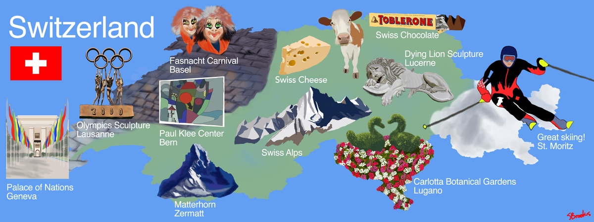 Stacy brooks map of switzerland