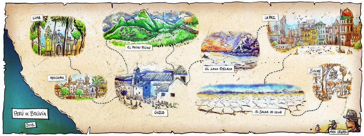 Map peru bolivia