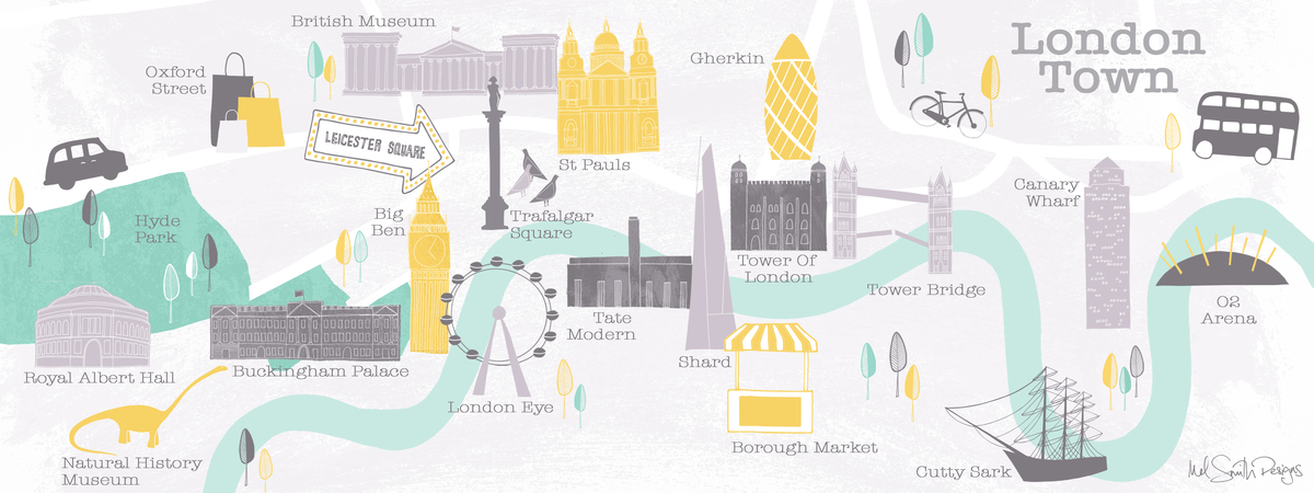 London southbank map   mel smith designs