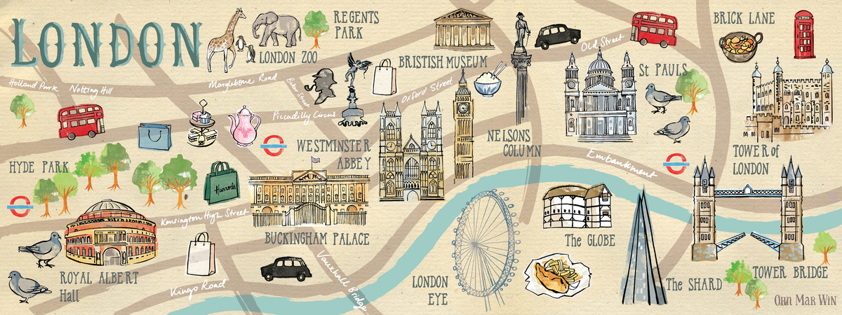 London Town Map.London Town By Ohn Mar Win They Draw Travel